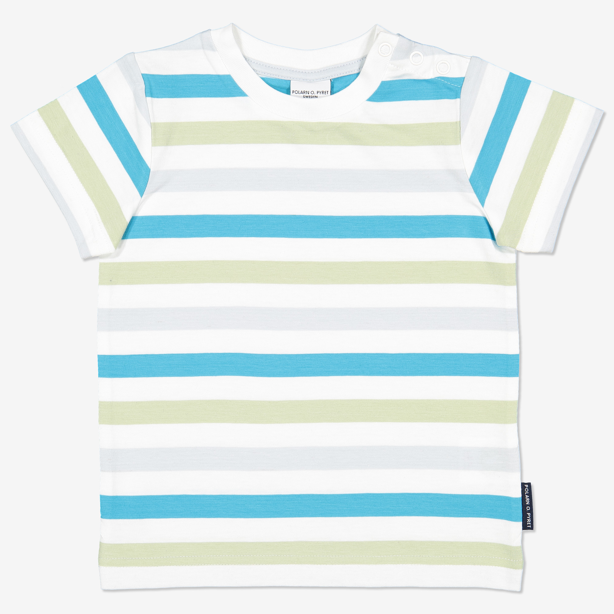 Multirandig t-shirt ljusgrön 74