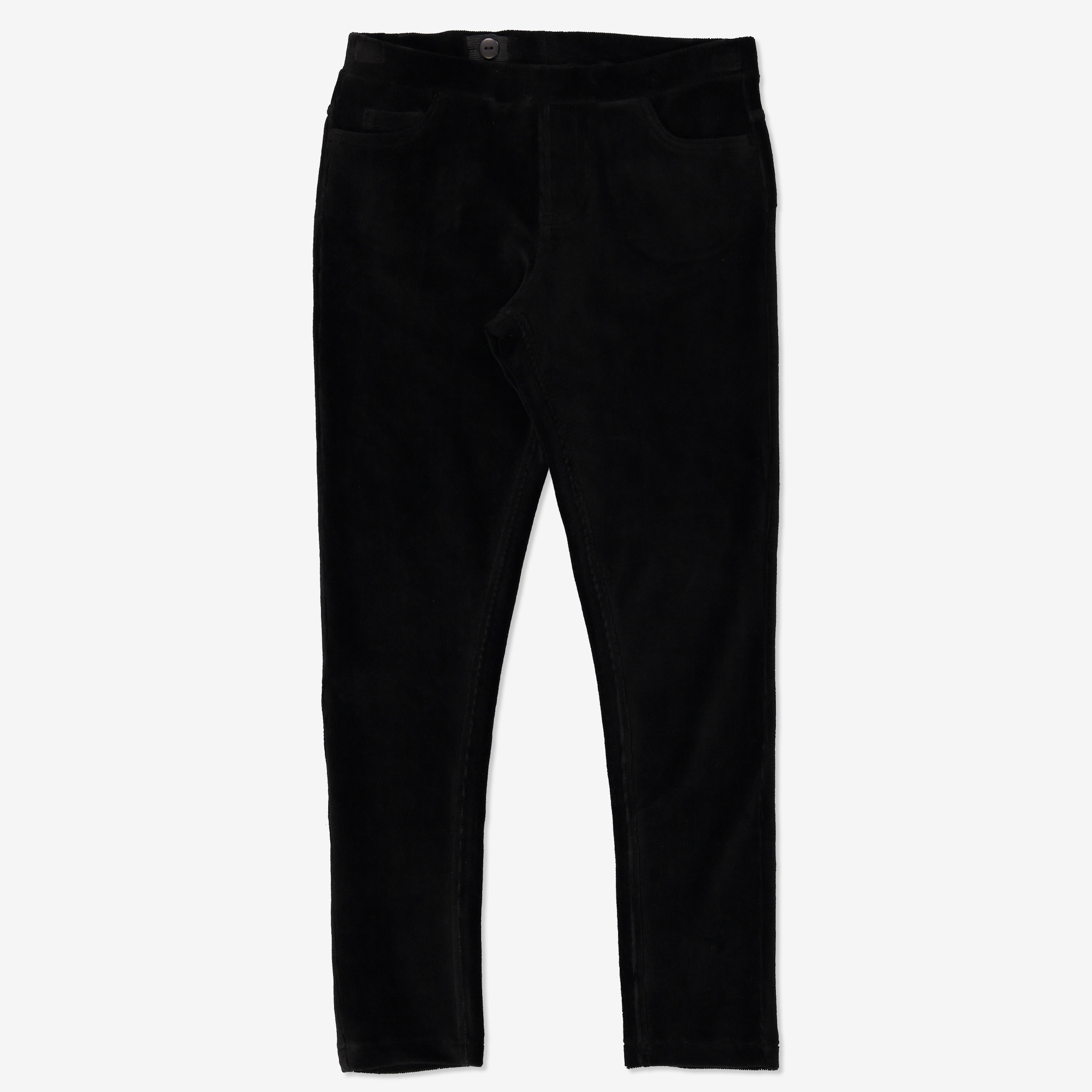 Velour leggings svart