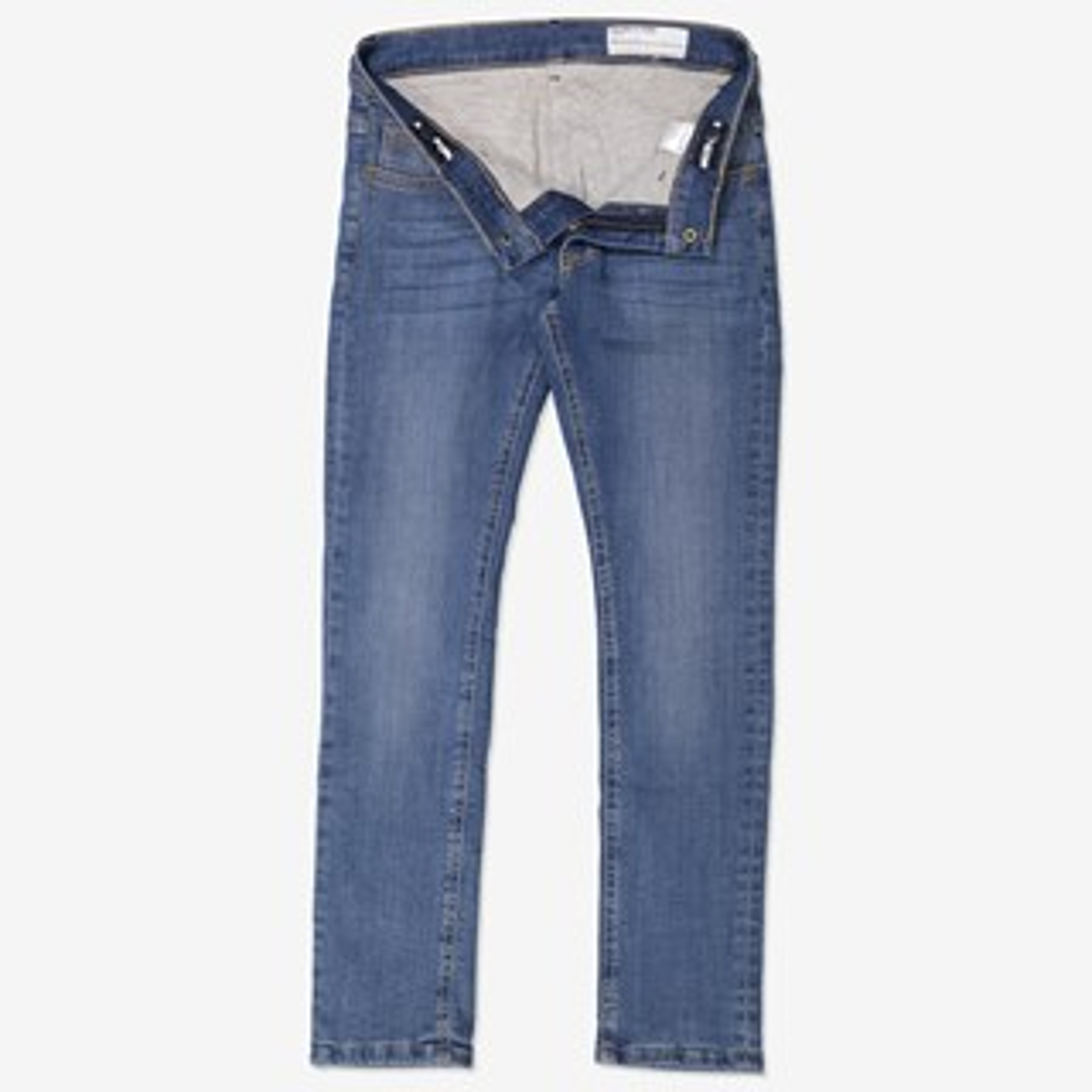 Fodrade jeans slim blå  5e301c55d119e