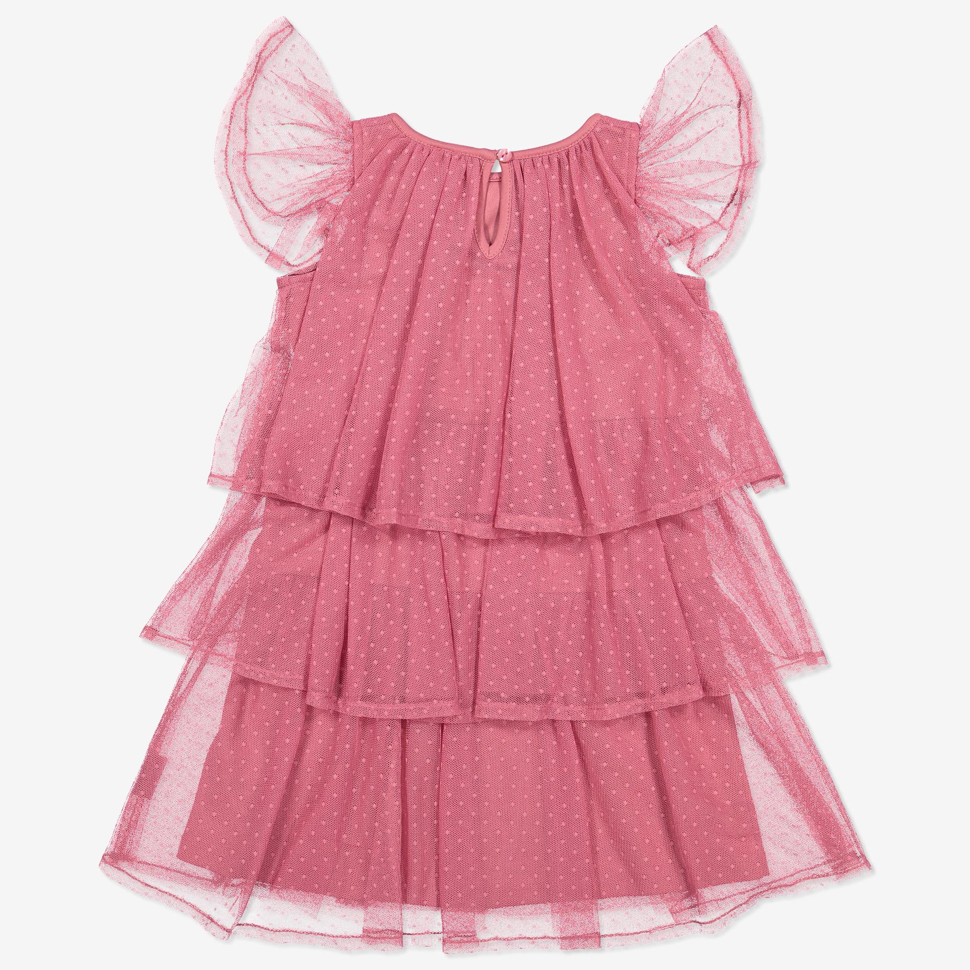 Tyllklänning med rosett rosa  5d8918d8cc664