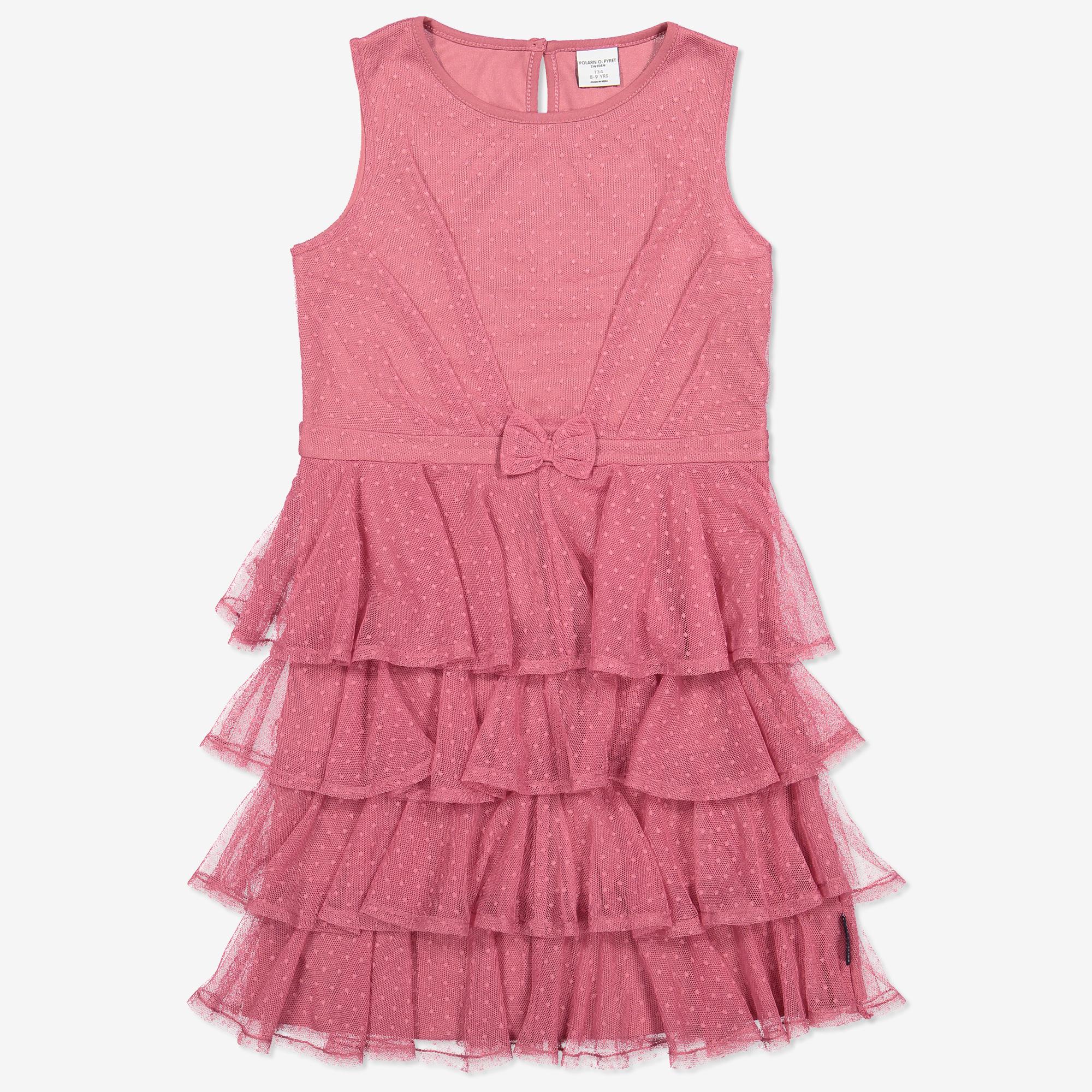 Tyllklänning med prickar baby rosa  549dc26a60cce