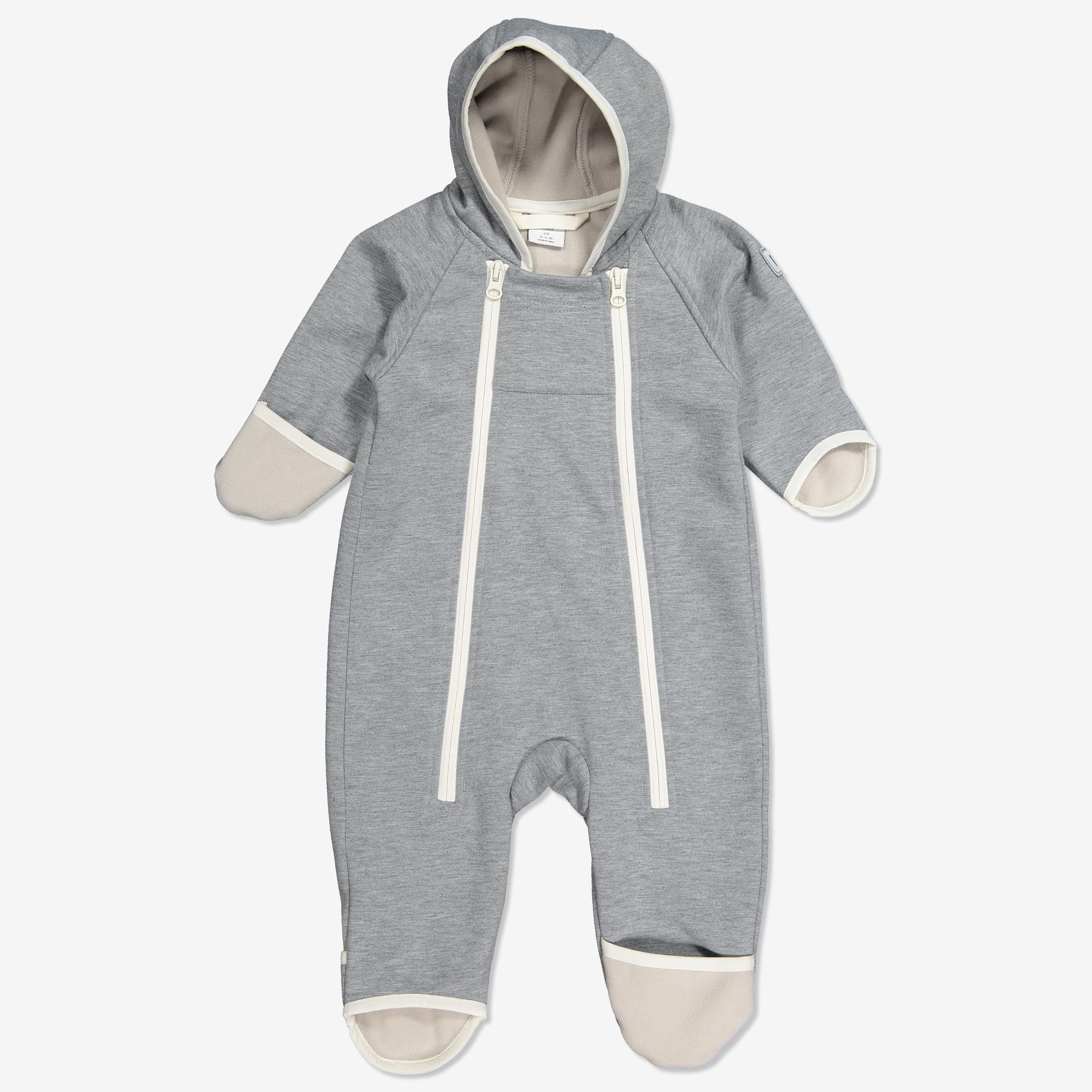 7d1d2e754e75 Overall softshell baby gråmelange   Polarnopyret.se