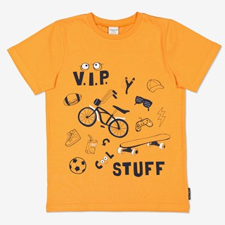 T-shirt med tryck orange