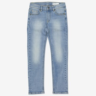 Jeans slim ljus denim