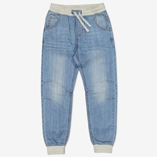 Dra-på-jeans denim