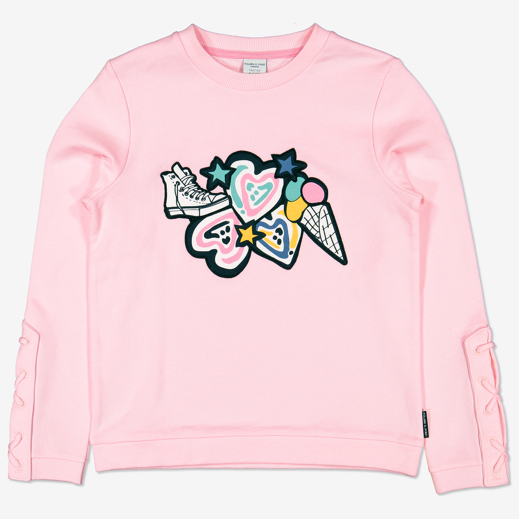 Sweatshirt med applikation rosa