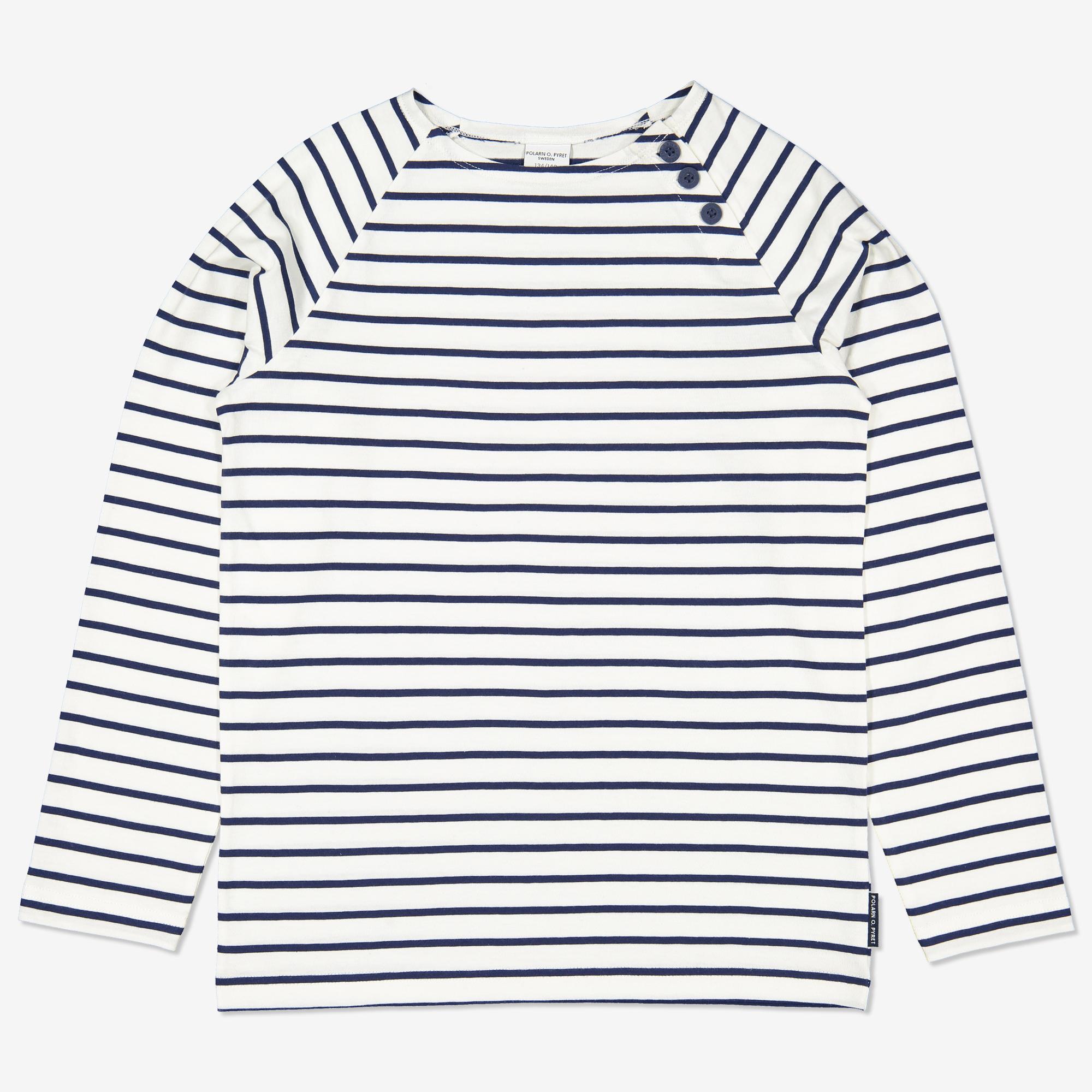 Långärmad randig tröja mörkblå 146 152
