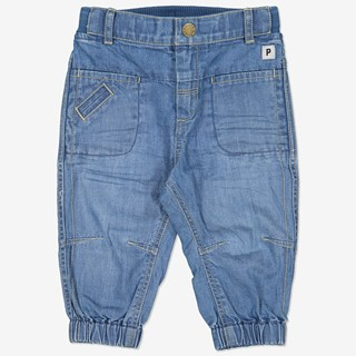 Denimbyxa baby ljus denim