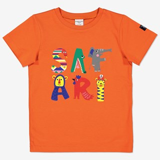 T-shirt med safaritryck orange