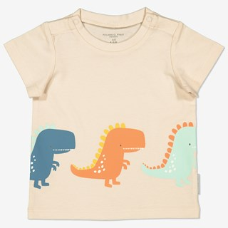 T-shirt med tryck baby beige