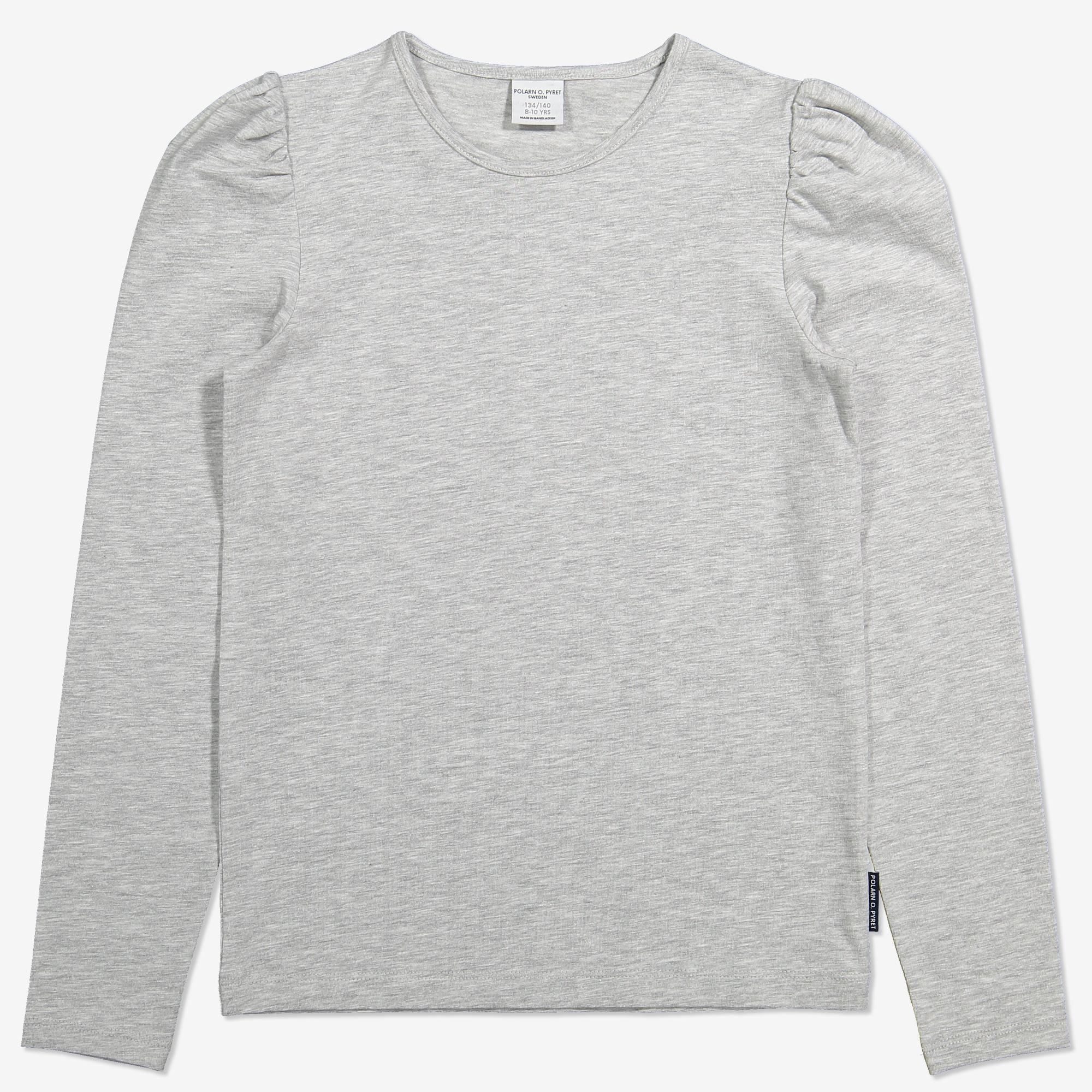 Topp med puffärm gråmelange | Polarnopyret.se